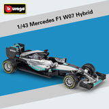2019 Bburago 1:43 Scale Metal Diecast F1 Car Formulaa 1 Model Mercedes Benz Racing Car W07/W10 Alloy Toy Car Collection Kid Gift