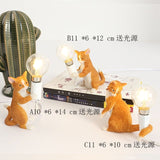 Animals Table Lamp Nordic Children's Bedroom Resin Cat Table Light  Bar Table Light home Decor night light Lighting Fixtures