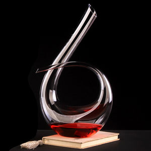 Creative red wine Decanter crystal transparent glass set handmade jug YHJ030405
