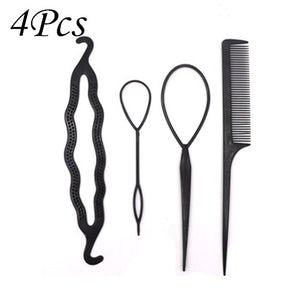 Multi-style Women Hair Twist Styling Clip Stick Bun Maker DIY Hair Braiding Tools Hair Accessories Braider DIY Hairstyle