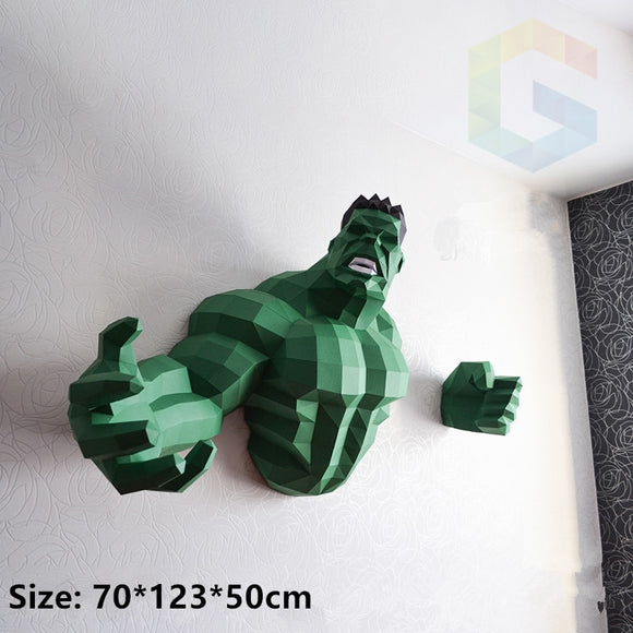 star wars bust 3D Paper Model hulk papercraft toys home decor wall decoration Puzzles Eductional DIY toys birthday gift for kids