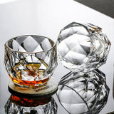 Salloping Horse Whiskey Glasses Diamond Cut Whisky Prism Crystal Old Fashioned Glass Vodka Tumbler Chivas Wine Cup