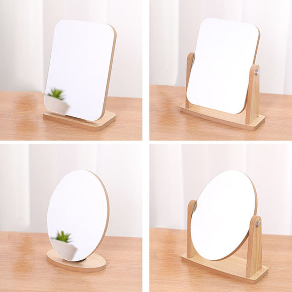 Wood stand Table Makeup Mirror Cosmetic Desktop Makeup MirrorS Beauty Dressing MirrorS Student Dormitory Book Mirror