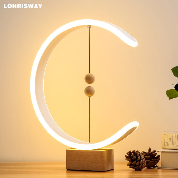 heng balance lamp Creative Gift Magnetic LED Lamp Home Table Night Light Magnetic Ball Switch Lights Home Decor Night Light Drop