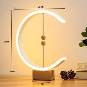 LONRISWAY LED Wood Desk Lamp, Bedroom Bedside Night Light, Dimmable Led Lighting, Creative Home Decor, Unique House warmging Gif