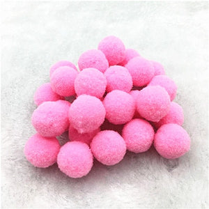 Fluffy Soft Pompom Plush Pom Poms Ball 8mm 10mm 15mm 20mm 25mm 30mm Pompones DIY Handmade Sewing Craft Kids Toy Wedding Decor
