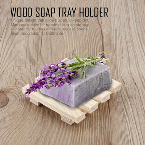 2020 New Eco-friendly Natural Wood Soap Dish Soap Holder Bathroom Home Portable Soap Dishes Tray Holder Storage Soap Rack