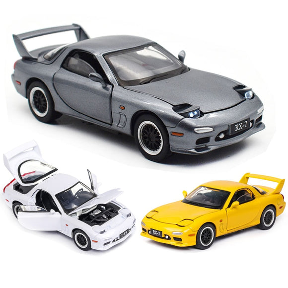 1:32  Mazda RX7 Car Model Alloy Car Die Cast Toy Car Model Pull Back Children's Toy Collectibles Free Shipping