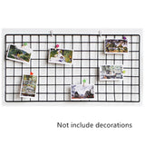 Modern Home Wall Decoration Iron Grid Decor Photo Frame Wall Art Display Mesh Storage Shelf Organizer Postcards DIY Rack Holder