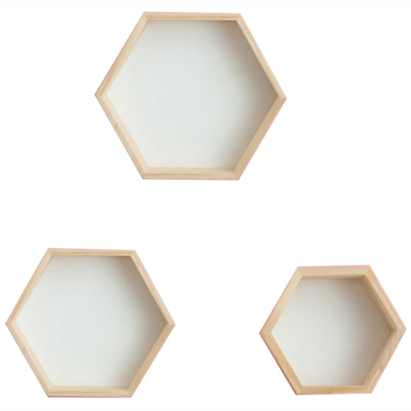 3Pcs/Set Nordic Style Kids Room Decoration Shelf Honeycomb Hexagon Shelves for Baby Child Bedroom Decoration