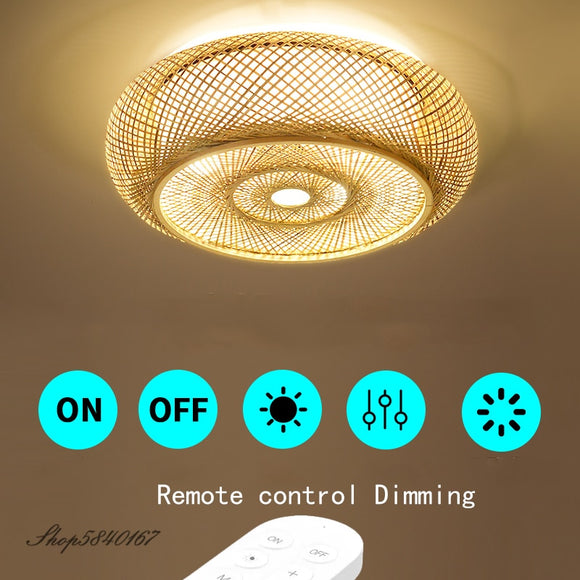 Hand Make Bamboo Ceiling Light Chinese Style Hanging Ceiling Cover Lamps for Living Room Dining Room Lighting Ceiling Home Deco