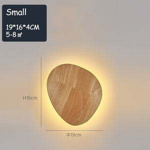 Nordic LED Wood Wall Lamp Bedroom Lamp Fixture 8W 12W Indoor Decorative Wall Light Loft Stairway Entrance Light AC90-260V