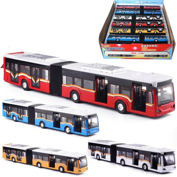 high simulation city bus model 1:50 alloy pull back double bus toy vehicles,metal diecasts,flashing & musical free shipping
