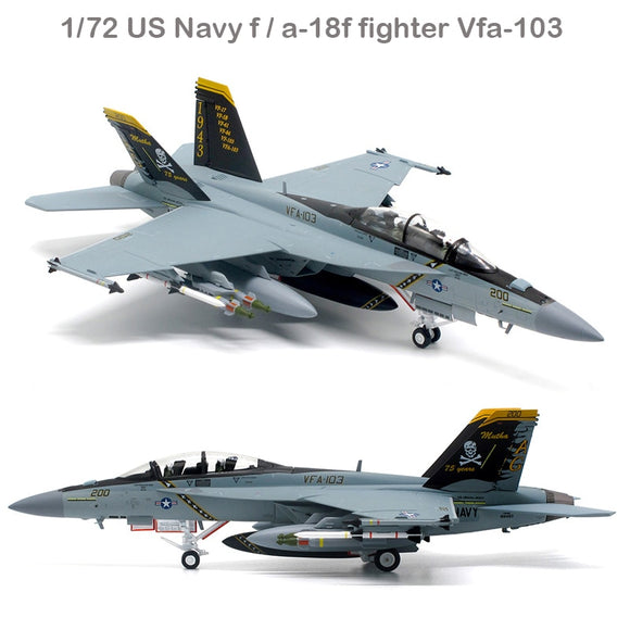 rare  fine  1/72  US Navy f / a-18f fighter  Vfa-103 pirate flag squadron  Alloy collection model