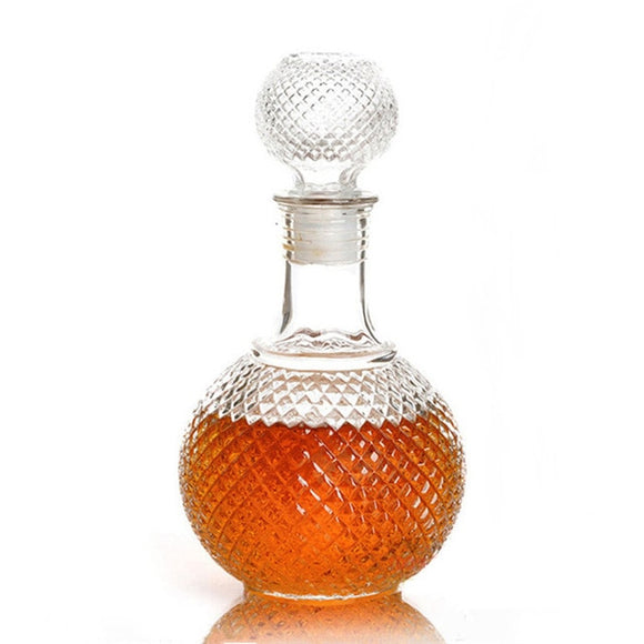 1PC Newest 250ml 500ml 1000ml Crystal Whiskey Wine Shot Glass Bottle With Cap Stopper Drinking Bar Decanter JR 1082