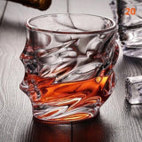 1Pcs Old Fashion Whirlwind Whiskey Glasses Tumblers for Scotch Bourbon Crystal Glass Lead-free Ultra-Clarity Glass ePacket