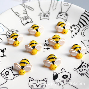 10pcs/lot 20mm Cute Mini Resin Cartoon Animal Bee With Flatback Cabochon DIY Decorative Headband Scrapbooking Craft