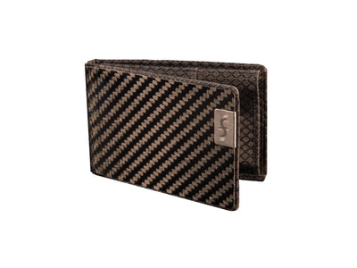 slim carbon fiber business card holder