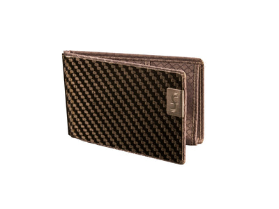 high capacity carbon fiber business card holder