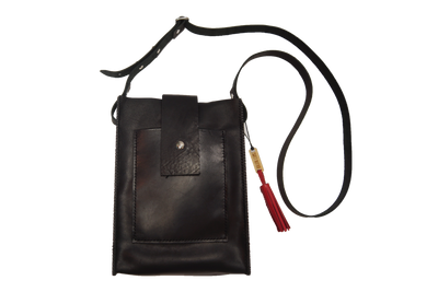 The Crossbody - Hand Stitched Leather and Carbon Fiber Crossbody