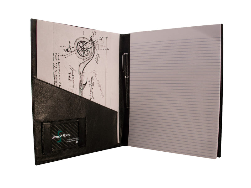 Large Carbon Fiber Portfolio for a NotePad