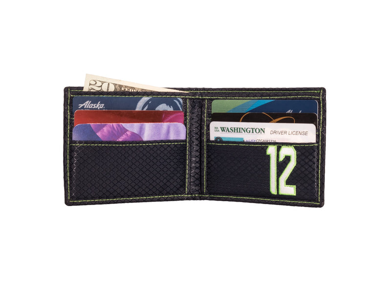 Seattle 12th Man Edition - Bifold Carbon Fiber Wallet