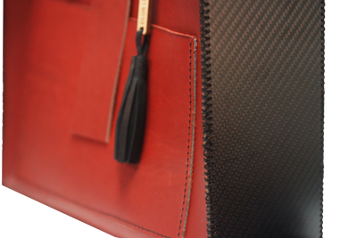 The Tote - Hand Stitched Leather and Carbon Fiber Tote