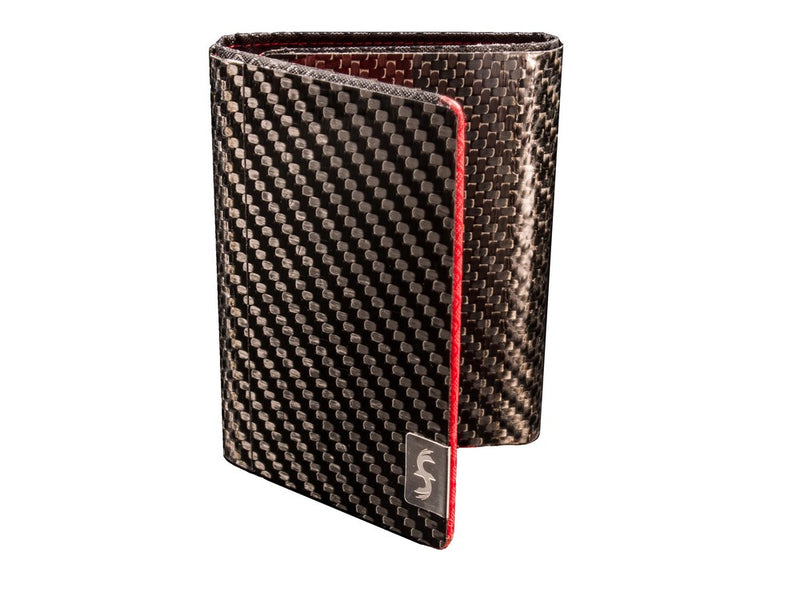 Black Carbon Fiber Trifold Wallet