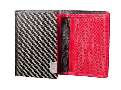 Mens Carbon Fiber Trifold Wallet