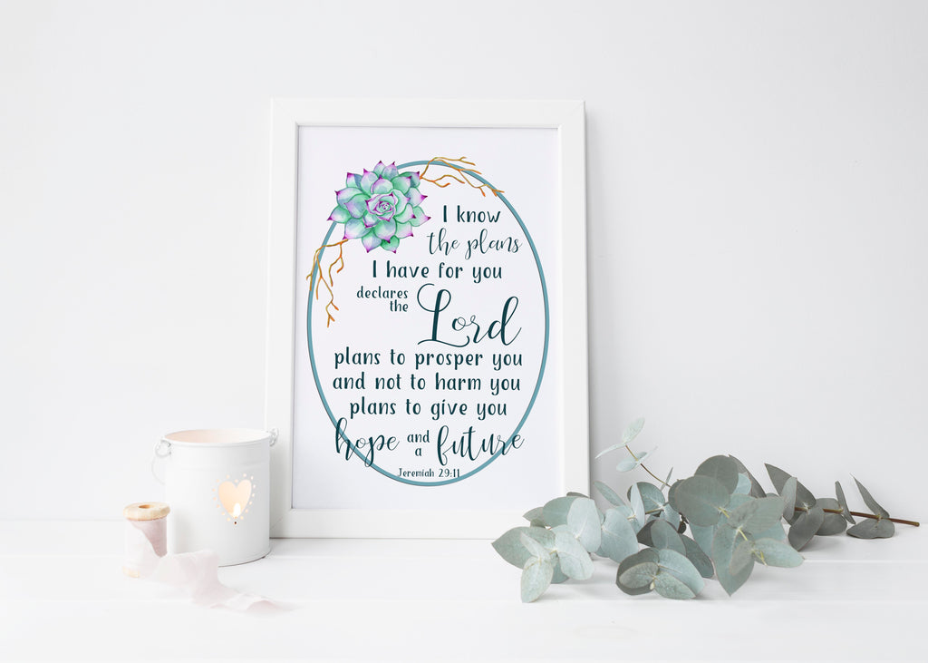 Gods Plans for You | Free Bible Verse Printable