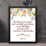 I Came that They May Have Life - John - Framed Print