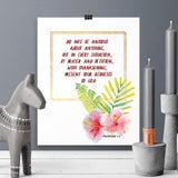 Do Not be Anxious - Philippians - Printable Wall Art