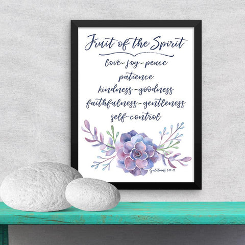 Fruit of the Spirit - Galatians - Framed Poster
