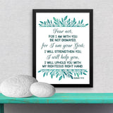 Fear Not I am With You - Isaiah - Framed Print