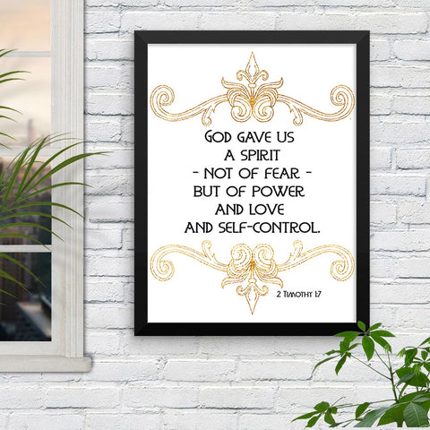 God Gave Us a Spirit - 2 Timothy - Framed Print