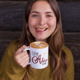 Coffee Mug for Christmas - O Come Let us Adore Him with Star - Ceramic Cup 11oz or 15oz - Holiday Hostess Idea or Gift for Mom