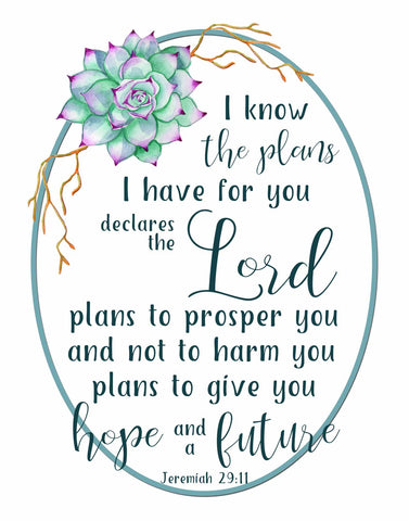 I Know the Plans I have for You - Printable Wall Art