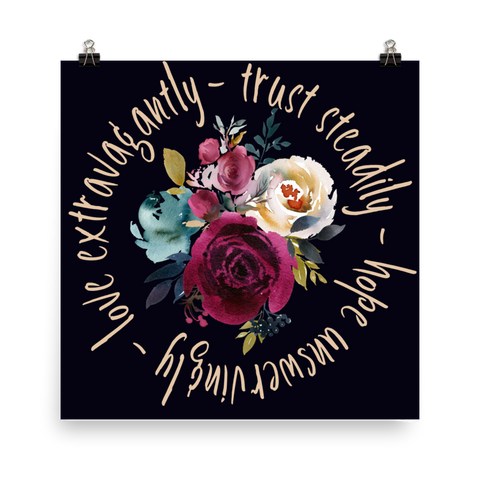 Trust Hope Love - Downloadable Art Print