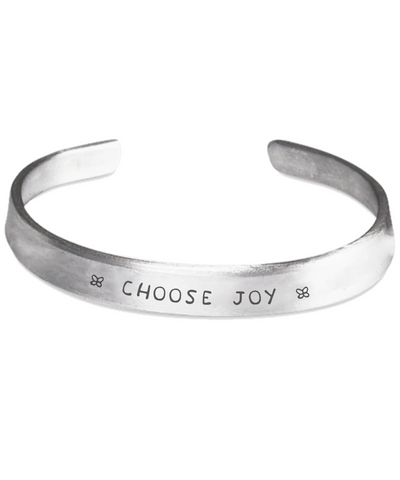 Choose Joy - Handstamped Cuff Bracelet