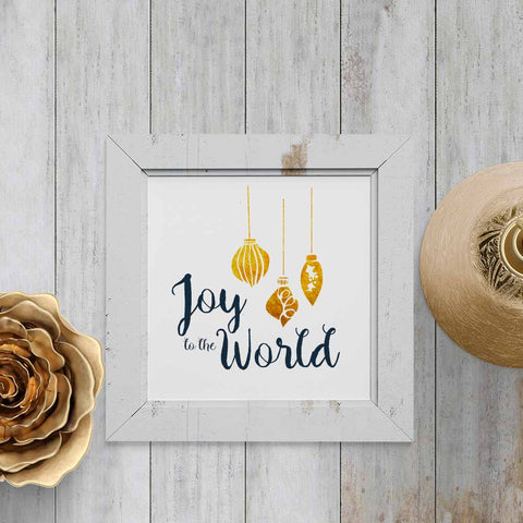Joy to the World - Printable Wall Art for Christmas