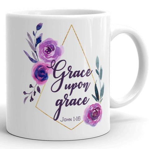 Grace Upon Grace - White Mug 11 oz or 15 oz