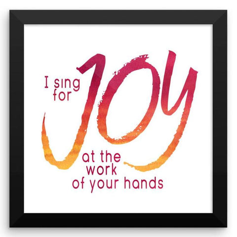 I Sing for Joy - Framed Art Print