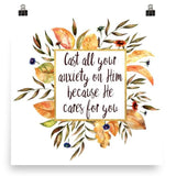 Cast all your Anxiety on Him - Poster Art Print