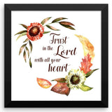 Trust in the Lord - Framed Art Print