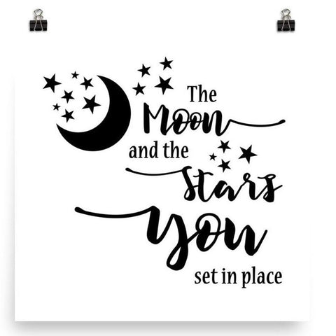 The Moon and the Stars - Poster Art Print