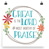Great is the Lord - Downloadable Art Print