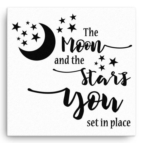 The Moon and the Stars - Canvas Art Print