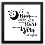 The Moon and the Stars - Framed Art Print