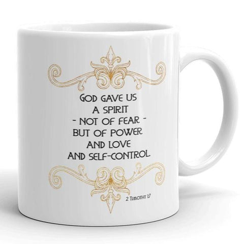 God Gave Us a Spirit - 2 Timothy - White Mug 11 oz or 15 oz