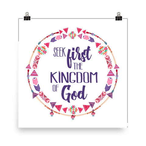 Seek First the Kingdom of God - Downloadable Art Print